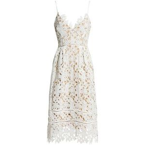 White Lace and Nude Dress Medium